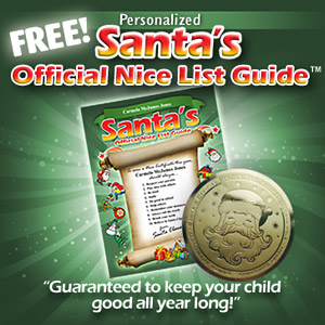 Free Personalized Santa's Nice List Guide!
