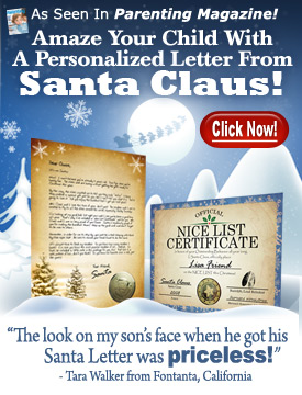 Letters from Santa - www.PackageFromSanta.com