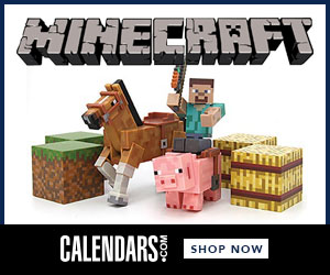 Shop Minecraft at Calendars.com Now!