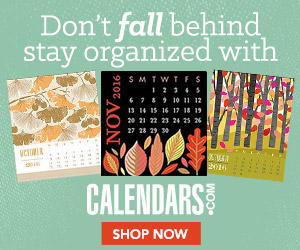 Stay Organized with Calendars.com!