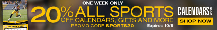 Take 20% off sports calendars and gifts with code SPORTS20 at checkout!