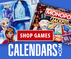 Shop Games on Calendars.com
