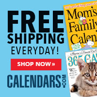 Shop Calendars.com with Free Shipping Offer Now