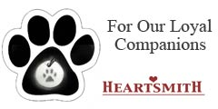 Save on pet memorial lockets, receptacle vessels and dog themed pendants with Heartsmith coupon code.