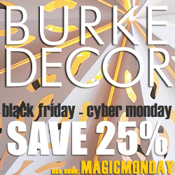 Save 25% at Burkedecor.com