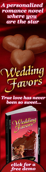Personalized Book - Wedding Favors, a romance starring you!