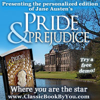 Personalized Pride and Prejudice from Classic Book By You