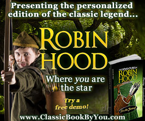 Personalized Robin Hood from Classic Book By You