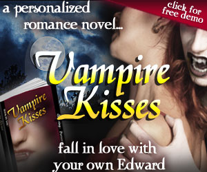 Personalized Vampire Romance Novel from BookByYou.com - Vampire Kisses