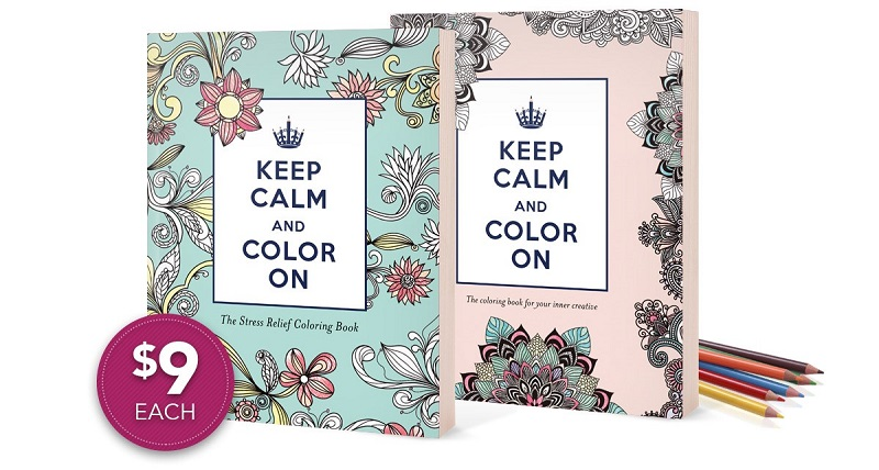 Keep Calm and Color On Coloring books are on sale now!