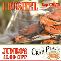 Steamed Crab Sale