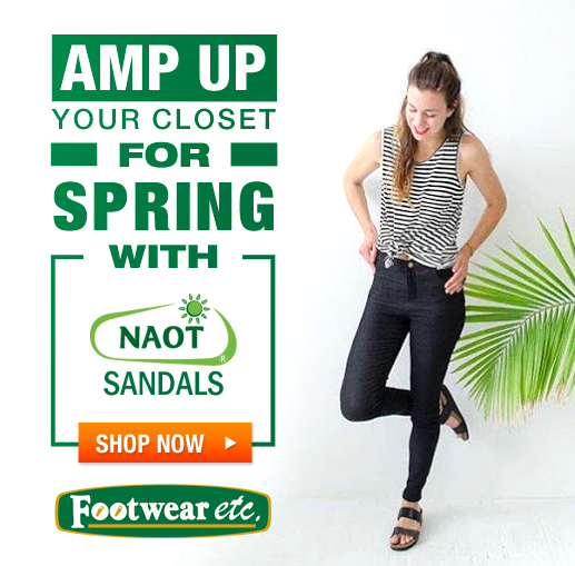 Amp up your closet for Spring with Naot Sandals!