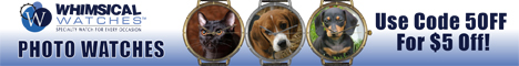 Add your favorite photo to your Whimsical Watch Save $5 coupon 5off