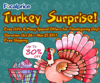 Free Gifts&Many special offers for thanksgiving day!