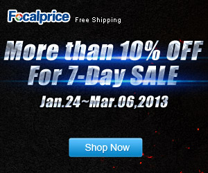 Big Savings on 7-Day SALE,  Ends on March.2013.