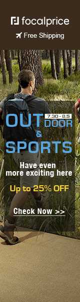 Outdoor & Sports Up to 25% Off, exp: Jul.30-Aug.5, freeshiping @ focalprice.com