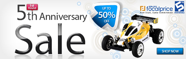 Up to 50% off on 5th Anniversary, Valid in June 04~June 13,2013.