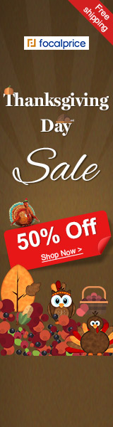 Up to 51% OFF,Low to $1.39 for Thanksgiving Day,EXP:Nov.30,freeshipping@focalprice.com