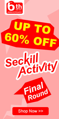 Up to 60% OFF Seckill Final Round,Expires:Jul.6,Free shipping@focalprice.com