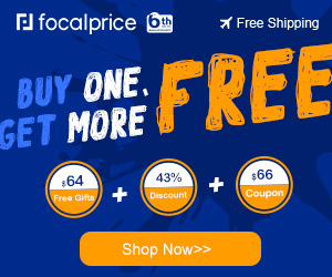 43% OFF Get More with Over $60 Gifts/Coupons,Expires:Jul.10+Free shipping@focalprice.com
