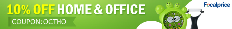 10% off on Hone&Office in Focalprice. (Coupon Code: OCTHO),Valid in October,2012.