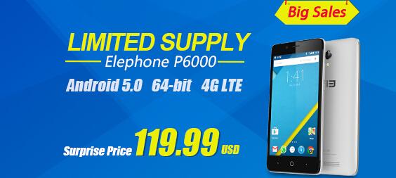 27% OFF Elephone P6000 5.0 4G Smartphone,freeshipping@focalprice.com