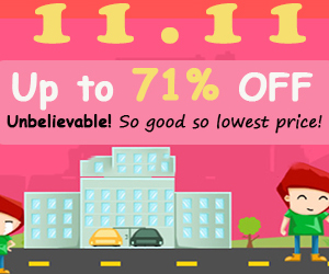 Up to 71% OFF for 11.11 Shopping Festival,EXP:Nov.11