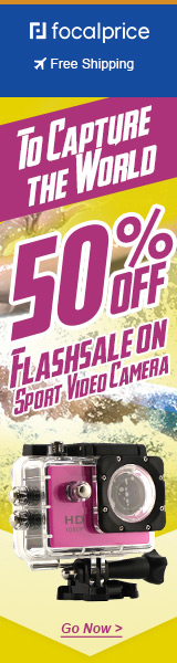 50% OFF Flash sale on sport video camera,EXP:Mar.31,freeshipping@focalprice.com