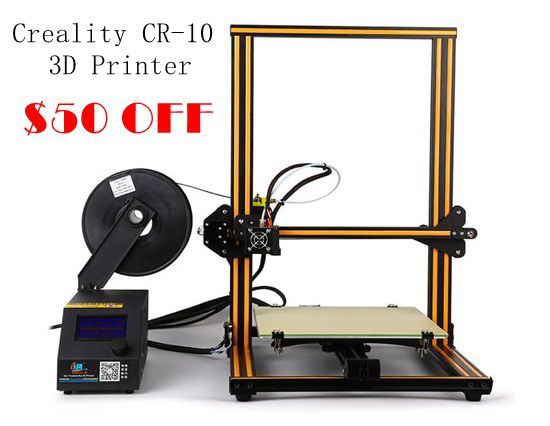 $50 OFF for Creality CR-10 3D Desktop Printer Kits