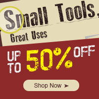 Up to 50% OFF Small Tool,Expires:Sep.10,Free shipping@focalprice.com