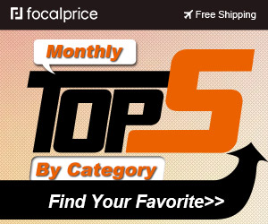 Up to 36% OFF Monthly Top 5 By Category,Expires:Oct.08,Free shipping@focalprice.com