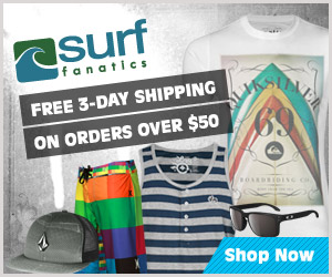Free 3 Day Shipping on Orders of $50 or More by Surf Fanatics