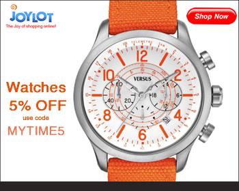 5% OFF Watches at JOYLOT use code: MYTIME5