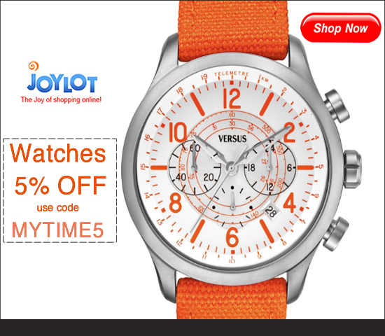 5% OFF Watches at JoyLOT use code: MYTIME5