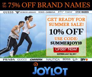 10% OFF SUMMERJOY10 Coupon at JoyLot.com