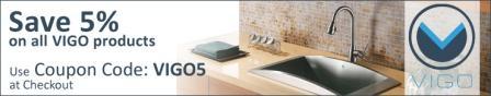 5% off all Vigo products at eFaucets.com