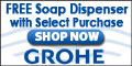 Buy Select Grohe Kitchen Faucets with Pull Out Spray and receive a free soap dispenser through the end of July at eFaucets.com!