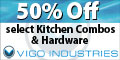 Save up to 50% off on select Vigo Kitchen combos and hardware on eFaucets.com. Shop Now! at eFaucets.com using Coupon Code: PFISTER10! Shop Now!