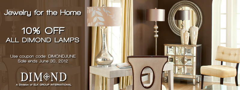 Save 10% on Dimond Lamps now through June 30th at LightingCatalog.com. Use Code: DIMONDJUNE. 800x300 Banner