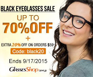 Save up to 70% off + an extra 20% off Black Eyeglass orders of $59+ at GlassesShop.com! Code: BLACK20 ends 9/17