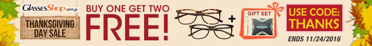 Thanksgiving Day Sale, Buy 1 Get 2 Free +Free Expedite Ship Orders $99+ at GlassesShop! Ends 11/24