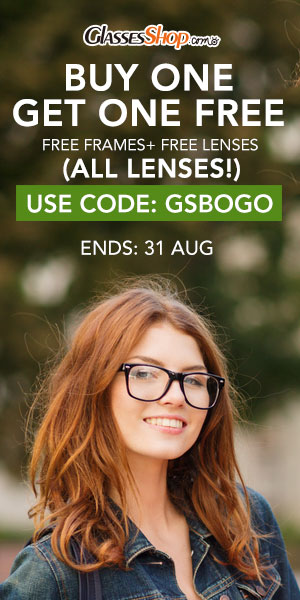 Back to School Sale ! BUY ONE GET ONE FREE (Frames & Lenses) Use Coupon Code GSBOGO At GlassesShop.com - Ends 8/31