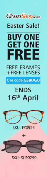 BUY ONE GET ONE FREE, Using Code GSBOGO At GlassesShop.com! Promo ends 4/16/2017