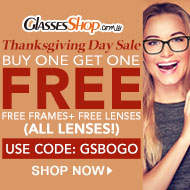 Thanksgiving Day Sale, BUY ONE GET ONE FREE At GlassesShop.com!
