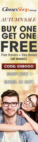 Autumn Sale! BUY ONE GET ONE FREE- Use Coupon Code GSBOGO At GlassesShop.com - Ends 10/31/2017