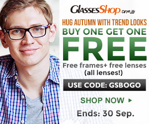 Hug Autumn with trendy looks, BUY ONE GET ONE FREE. Use Code GSBOGO at GlassesShop.com Ends 9/30