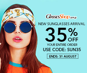 NEW SUNGLASSES ARRIVAL 35% OFF – use coupon code SUN35 At GlassesShop.com - Ends 8/31/17