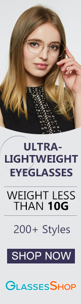 Shop NOW for Ultra-Lightweight glasses.  More than 200 styles weighing less than 10g!  Check them out today at GlassesShop.com