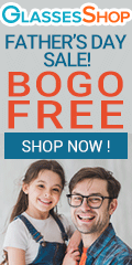 Father's Day BOGO Sale!  Buy one Get one FREE! Free frames AND lenses with code GSBOGO at GlassesShop.com