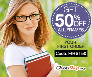 Get 50% off your frames on your first order At GlassesShop.com